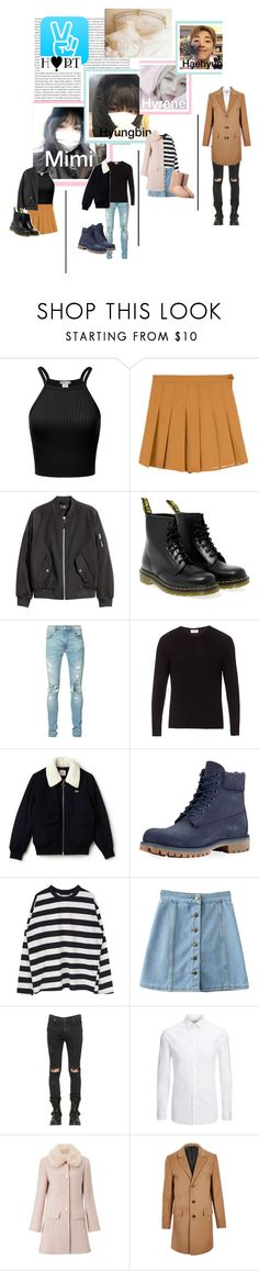 """V live start~"" by pastelentertainment ❤ liked on Polyvore featuring Oris, PATH, Dr. Martens, AMIRI, American Vintage, Lacoste, Timberland, RtA, Joseph and Miss Selfridge"