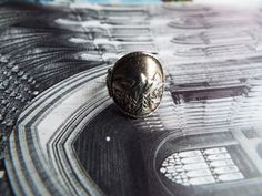 Antique Ring/Signet Ring/Shield Ring/Sterling Ring/Silver Ring/Sun Ring/Tree Ring/Size 5/Hippie Ring/Boho Ring/Unique Ring/Statement Ring