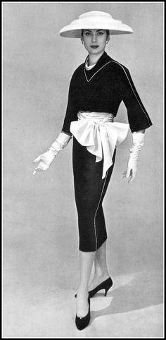 Pierre Balmain Suit, photo by Georges Saad, 1956
