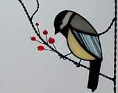 stained glass bird