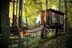 La bonita y acogedora casa del árbol de Peter Bahouth