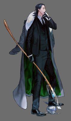 Loki in human clothing