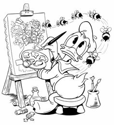 Cool Coloring Pages, Cartoon Coloring Pages, Disney Coloring Pages, Adult Coloring Pages, Coloring Pages For Kids, Coloring Sheets, Coloring Books, Kids Coloring, Winnie The Pooh Drawing