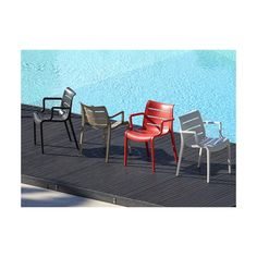 Celoplastová židle SUNSET s područkami je svým designem velmi povedená. Design Jardin, Outdoor Furniture Sets, Outdoor Decor, Sun Lounger, Decoration, Chair, Home Decor, Unique, Sunset