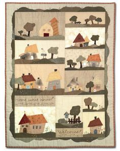 A house on a quilt is a symbol of comfort and the togetherness of family, friends, and neighbors. House quilts really appeal to us, maybe be...