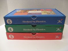 Hooked on Phonics 3, 4, 5 Audio Cassette w/ Books Flash Cards Learn to Read #HookedonPhonics