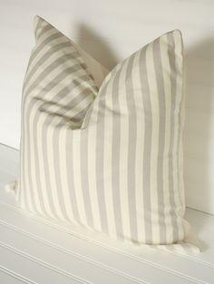 Gray Stripe Pillow Cover 18x18
