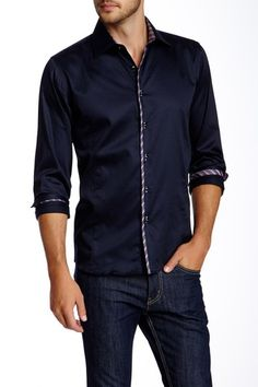 Elbow Patch Long Sleeve Shirt