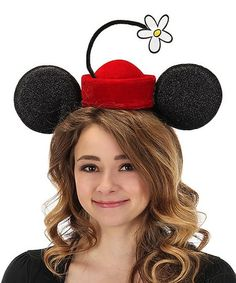 elope Disney Minnie Mouse Vintage Flower Hat Headband | Zulily in 2020 | Flower  hats, Vintage flowers, Minnie costume