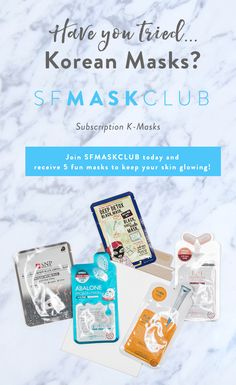 Join SF MASK CLUB today and receive 5 fun masks to keep your skin glowing! Skincare Blog, Korean Skincare, Dry Sensitive Skin, Hydrating Mask, Normal Skin, Acne Skin, Facial Care, Combination Skin, Skin So Soft