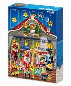 Sinterklaas-kalender (achterkant doos)