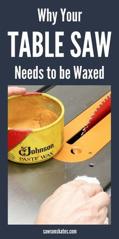 What???!!! I didn't know I should wax my table saw! Waxing your table saw not only keeps it looking its best but helps to reduce oxidation, reduce friction and maximize performance. #tablesaw