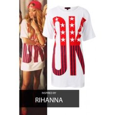 Rihanna Inspired T-Shirt Dress Missi London Celebrity Inspired T-Shirt Dress Missi London Dresses Mini