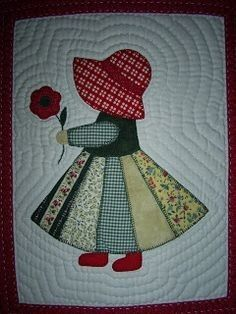 17 super ideas for patchwork quilt baby girl sew Quilt Block Patterns, Applique Patterns, Applique Quilts, Applique Designs, Doily Patterns, Quilting Projects, Quilting Designs, Sewing Projects, Sunbonnet Sue
