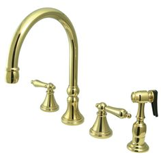 Widespead 4Hole Solid Brass Kitchen Faucet Oil Rubbed Bronze Interesting 4 Hole Kitchen Faucet Design Inspiration