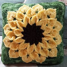 This is a great pattern! Using an H hook with the Super Saver yarn gave me a large square very quickly. Changes: one color for all rounds after center, omit rnds 14-17, trc for middle round of pet...
