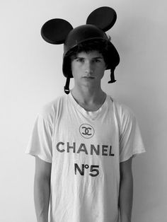 Military Mickey Jeremy Ears + a little Chanel = love it