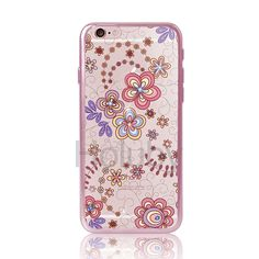 DITA Colored Drawing Diamond Electroplated Soft TPU Back Case for iPhone 6/ 6S - Elegant Flowers