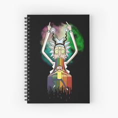 'Peace among worlds - Rick & Morty (TM) ' Spiral Notebook by MonoMano My Notebook, Notebook Design, Rick And Morty, Notebooks, Cat Lovers, My Arts, Geek Stuff, Fan Art, Peace