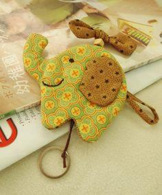 Thailand Handmade elephant keycover  Moda by northernhandmade, $4.50