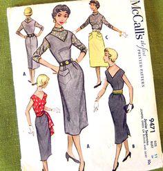 1953 Vintage Sewing Pattern  Jumper Dress or by SelvedgeShop, $16.00