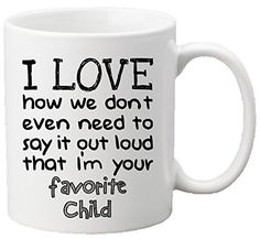 Muggies Favorite Child 11oz Funny Ceramic Mug  Unique Gift For Mom Dad Mothers Day Fathers Day Christmas Birthday Get This To Your Parents  It Would Be Their New Favorite Coffee  Tea Mug -- Continue to the product at the image link.