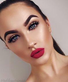 Sweet make-up ideas you might want to try . - Makeup Ideen - Make Up Glam Makeup, Makeup Inspo, Bridal Makeup, Wedding Makeup, Makeup Inspiration, Hair Makeup, Neutral Makeup, Bridal Smokey Eye Makeup, Casual Makeup