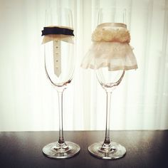 DIYできる『グラスドレス』が大人気♡とっても可愛いウェディングアイテム*にて紹介している画像