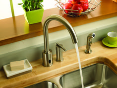Danze Parma motion sensor kitchen faucet