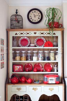 Organised kitchen dresser