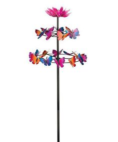 Loving this Butterfly Dance Kinetic Stake on #zulily! #zulilyfinds