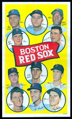 Boston Red Sox  1969 Topps TEAM POSTERS
