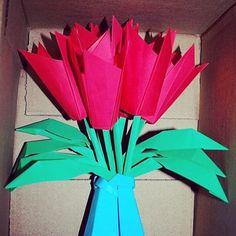 Prison break origami rose flower