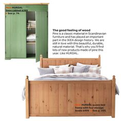 Ikea Hurdal bed and cabinet. I love this look.