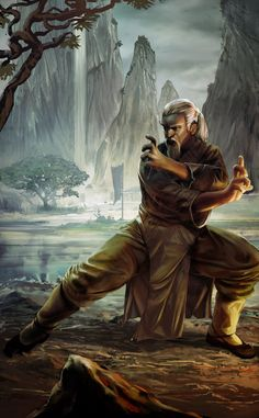 Sen Tei, um monge das colinas montanhosas de Van-Otack. Mestre marcial e das artes da magia de fogo. [Daniel Rotava]