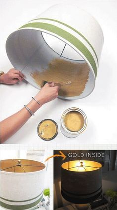 If you want to give a low-budget makeover to any part of your home, then we suggested you should try spray painting which has become a new trend in home-remodeling. Spray painting is an easy, cheap and fast way to make those existing home items go from pl Lamp Makeover, Furniture Makeover, Lamp Redo, Origami Lamps, Diy Inspiration, Ideias Diy, Ideas Geniales, Cool Ideas, 31 Ideas