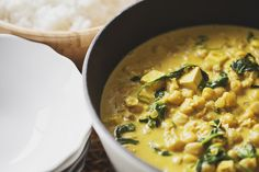Chickpea, Tofu & Spinach Vegan Curry