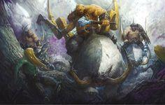 http://wellofeternitypl.blogspot.com Age of Sigmar Artwork   Beastclaw Riders…