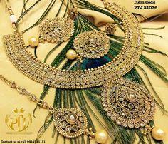 "Punjabi Traditional ""Gold Plated Jhodha Gold Set""(Next to Real) Item Code - PTJ S1036 For price please inbox with Image or WhatsApp at this number +91 9914721111 or you can email us at Punjabijewellery@gmail.com #sydney #australia #america #canada #california #kuwait #dubai #london #england #india #italy #sikhwedding #bride #fashion #happy #jewellery #kundan #lehnga #love #newyork #NYC #punjabi #toronto #traditional #uk #us #usa #viah #sikhwedding"