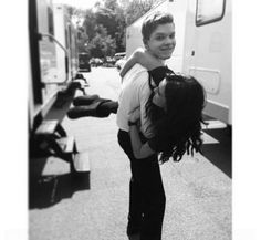 Mason (Cameron Monaghan) carries Rose (Zoey Deutch) in new photo from 'Vampire Academy' set