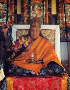 Dilgo Khyentse Rinpoche, Vajrayana master, scholar, poet, teacher, and head of the Nyingma school of Tibetan Buddhism from 1987 to 1991.