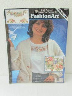 17-0735 Vintage 1996 Iron On Fashion Art / Dimensions Iron On