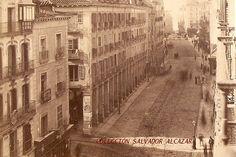 Fotografías antiguas de de Madrid y sus gentes: los soportales de la calle mayor 1872