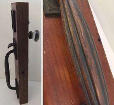 Antique Bronze Corbin Entry Door Lock Set and Art Deco Pull, Glass Knob  #Corbin #Bronze #Home