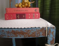 Painted with Miss Mustard Seed French Enamel Milk Paint and a DIY slipcover
