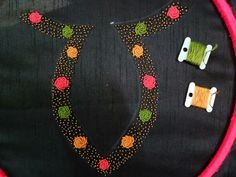 #bullionknots#roses#handembroidery Diy Embroidery Designs, Hand Embroidery Patterns, Silk Ribbon Embroidery, Embroidery Applique, Embroidery Stitches, Kurti Neck Designs, Salwar Designs, Saree Blouse Designs, Blouse Patterns