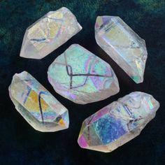 Angel aura quartz points
