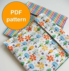 PDF Sewing Pattern Picnic Pouch Reusable Sandwhich bags - need to get fabric ASAP Sewing Hacks, Sewing Tutorials, Fabric Crafts, Sewing Crafts, Reusable Sandwich Bags, Learn To Sew, How To Make, Diy Couture, Sewing Projects For Beginners