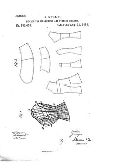 1883 Patent US283638 - JEAN MONJOU _ Device for measuring and fitting dresses - Google Patents