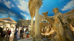 forum shops ceasar's palace las vegas the sky is created but is incredibly real in both look and feel including when clouds roll in and a thunderstorm begins. Las Vegas Vacation Deals, Las Vegas Vacation Packages, Las Vegas Trip, Las Vegas Hotels, Vacation Spots, Cloud Ceiling, Desert Sun, Great Hotel, Explore